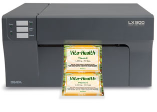 LX900 printing Vitamin Label