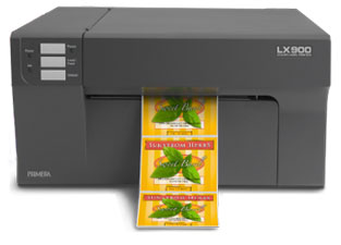 LX900 printing specialty food labels